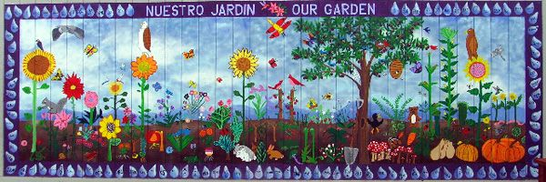 school mural Bay View Elementary School Mural Our Garden I like
