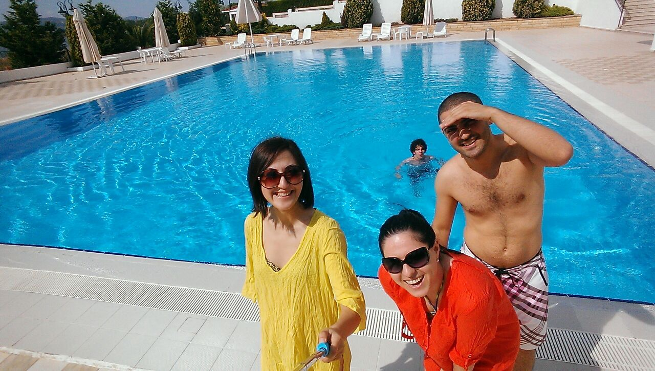 I Think I Really fall in love with sunmer days !!! Me, my sister , my brother and my husband in Bayramoğlu / Turkey