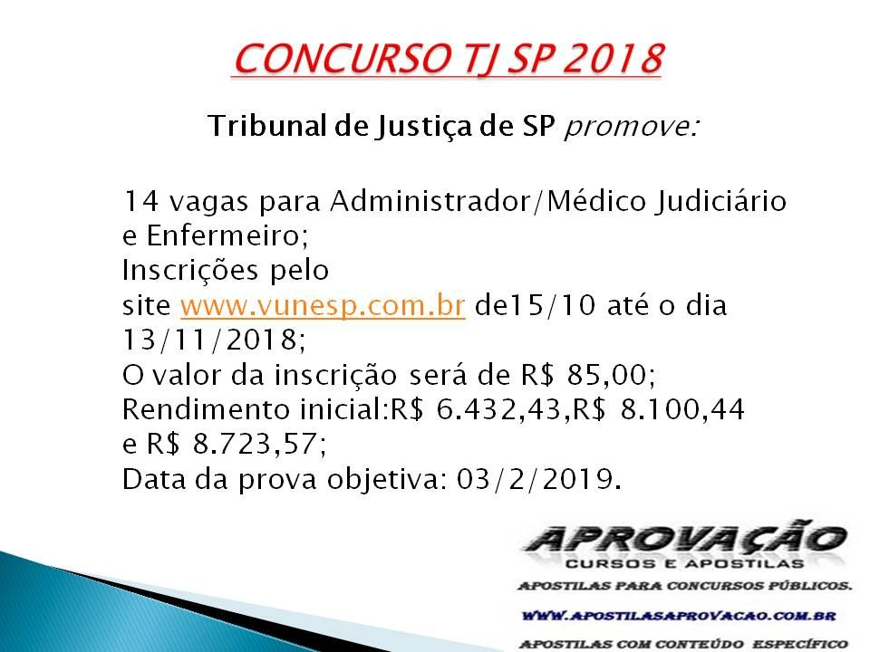 Apostila Para Concurso Tj Sp 2019 Compre Sua Apostila Tj Sp