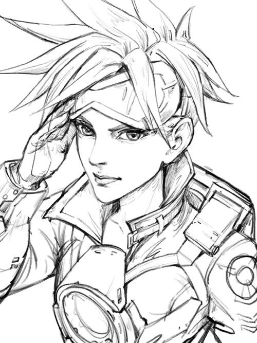 Overwatch Dva Coloring Page Pages Sketch Coloring Page