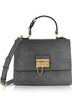 Dolce   Gabbana Lizard-effect leather shoulder bag   NET-A-PORTER ... 14d0afd373