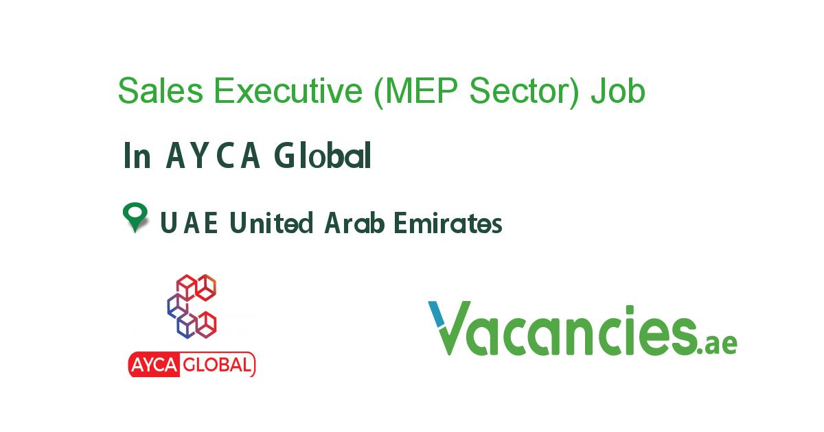 Sales Executive Mep Sector In 2020 Executive Jobs Company Job