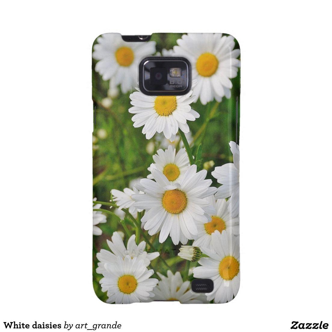 White daisies samsung galaxy SII cover
