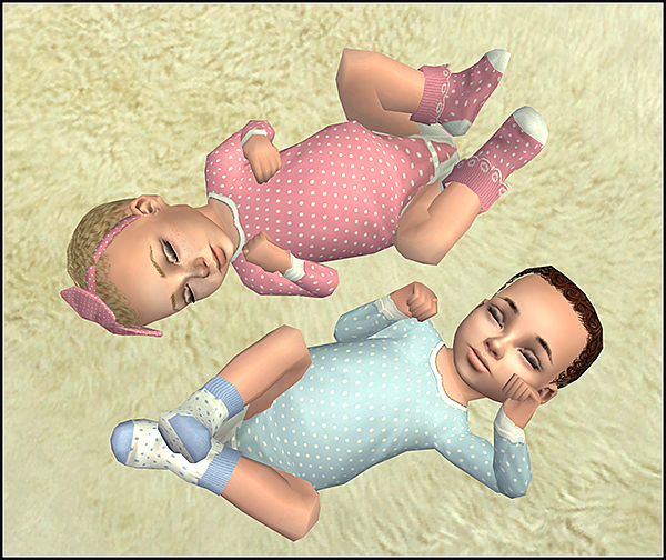 Lana CC Finds - Dotted onesies by Theraven at Moonlight ...