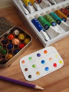 Paint And Go Watercolor Kit Made With Acorn Tops And Altoid Tin