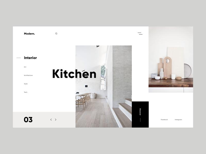 Modern Interior Design Website Book Design Layout Web Layout Design
