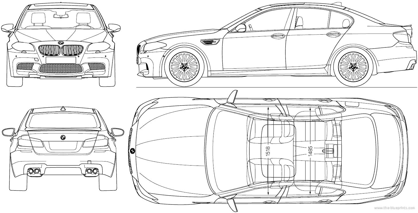 Image result for bmw m5 f10 blueprint Bmw m5 f10, Bmw m5