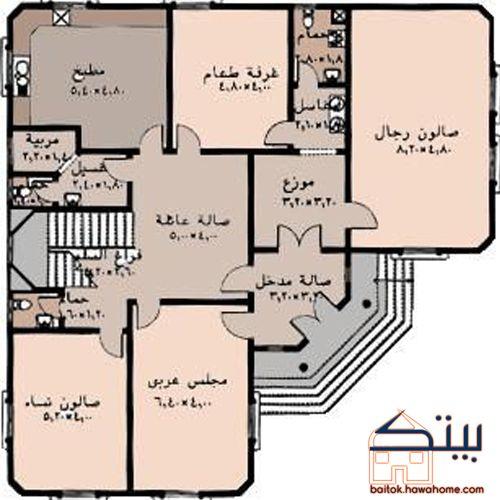 مخططات بيوت سعودية House Layout Plans My House Plans House Floor Design