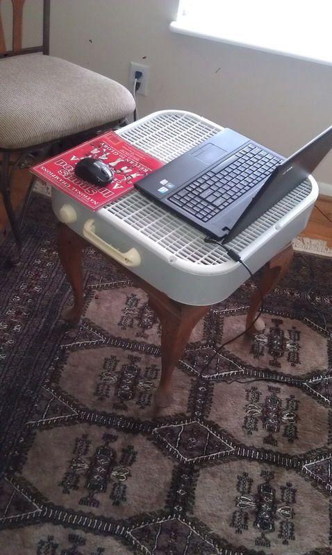 pues mala idea no es, para verano obvio...... yo hago algo así pero no con este tipo de ventiladores sino con los del tipo torre...  hay que cuidar la laptop