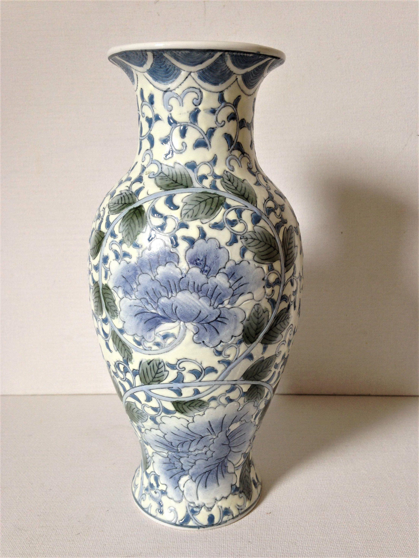 Home Decor Vintage Asian Style Stoneware Pottery Vase Ceramic Asian Style Vase