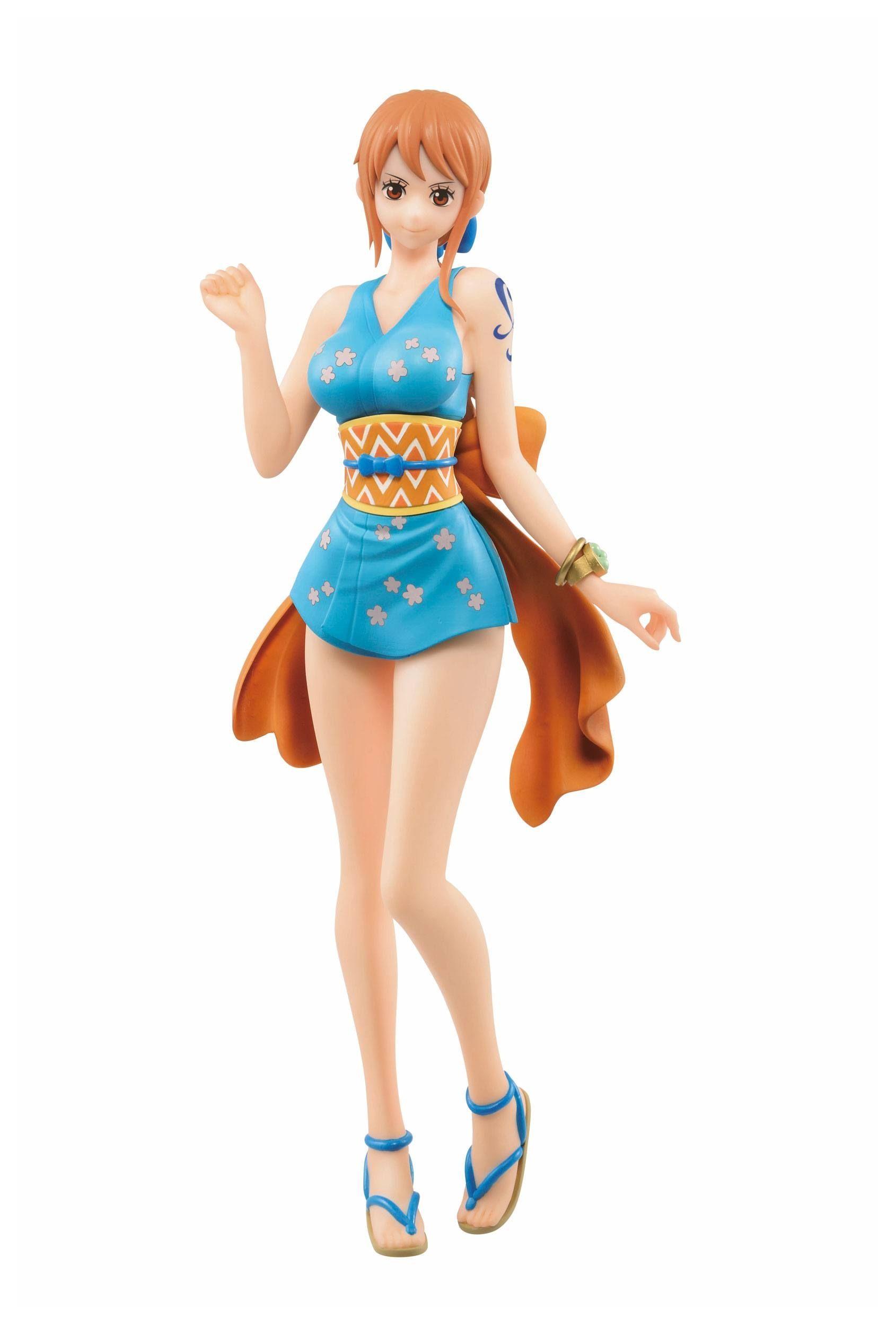 Anime One Piece Lady Edge Wedding Nami White Ver PVC Figure New In Box