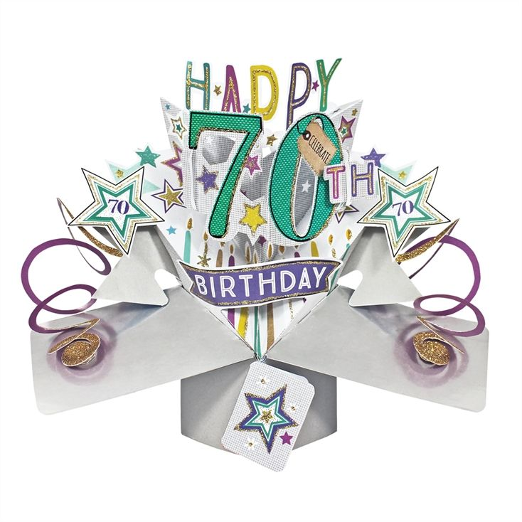 Pop Up 70th Birthday Card In 2020