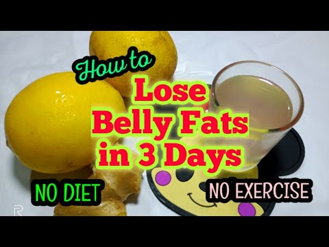 How to lose Belly Fat in 3 days Super Fast! NO DIE