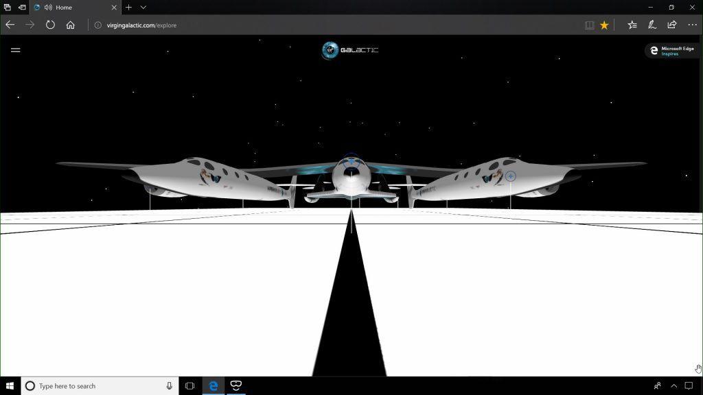Virgin Galactic partners with Microsoft Edge to create an