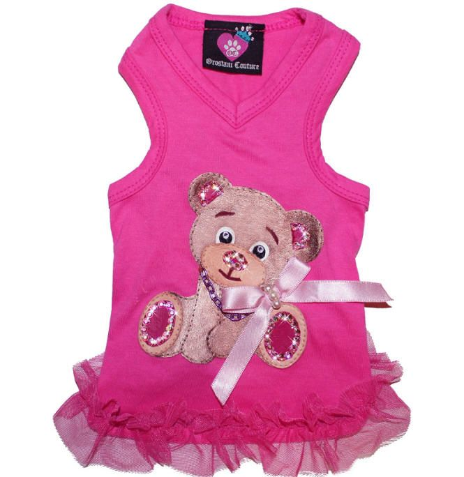 Berry Couture Pink V-Neck Dog Tank Dress