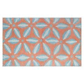 Threshold Bath Rug Pinwheel Coral Target Louis Home - Coral bath mat for bathroom decorating ideas