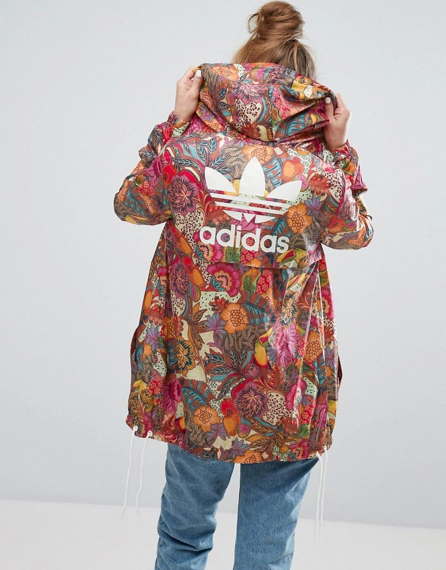 4f7e2907710e5 ADIDAS ORIGINALS ADIDAS ORIGINALS FARM BRIGHT FLORAL PRINT FESTIVAL  WINDBREAKER JACKET - MULTI. #adidasoriginals #cloth #