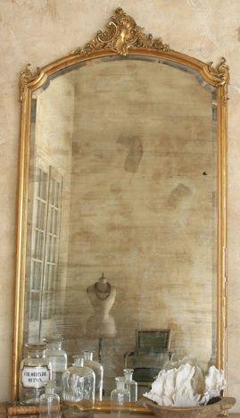 The Paris Apartment Boutique Vintage Gold Mirror French Mirror Vintage Mirrors