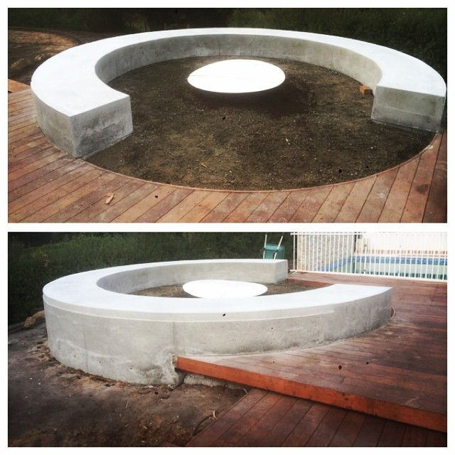 Keenan Harris On Instagram Circular Concrete Fire Pit Bench Seat Just Stripped And Ready For Next Stage Of L Modern Fire Pit Fire Pit Bench Fire Pit Seating