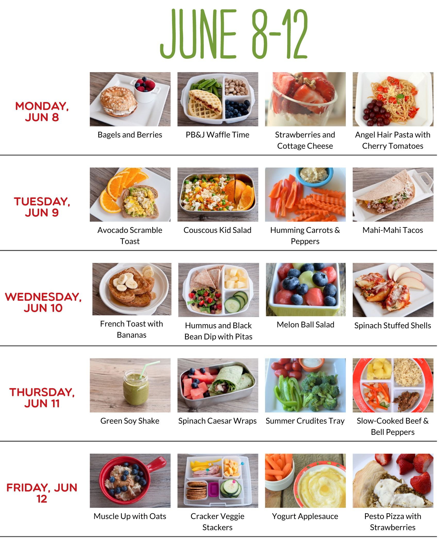 Toddler Meal Plan Idea With Images