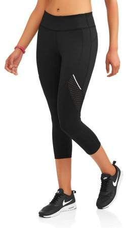3cf9ff19a4927 Avia Women's Active Allover Print Performance Capri Legging with Mesh  Inserts Capri Leggings, Active Wear