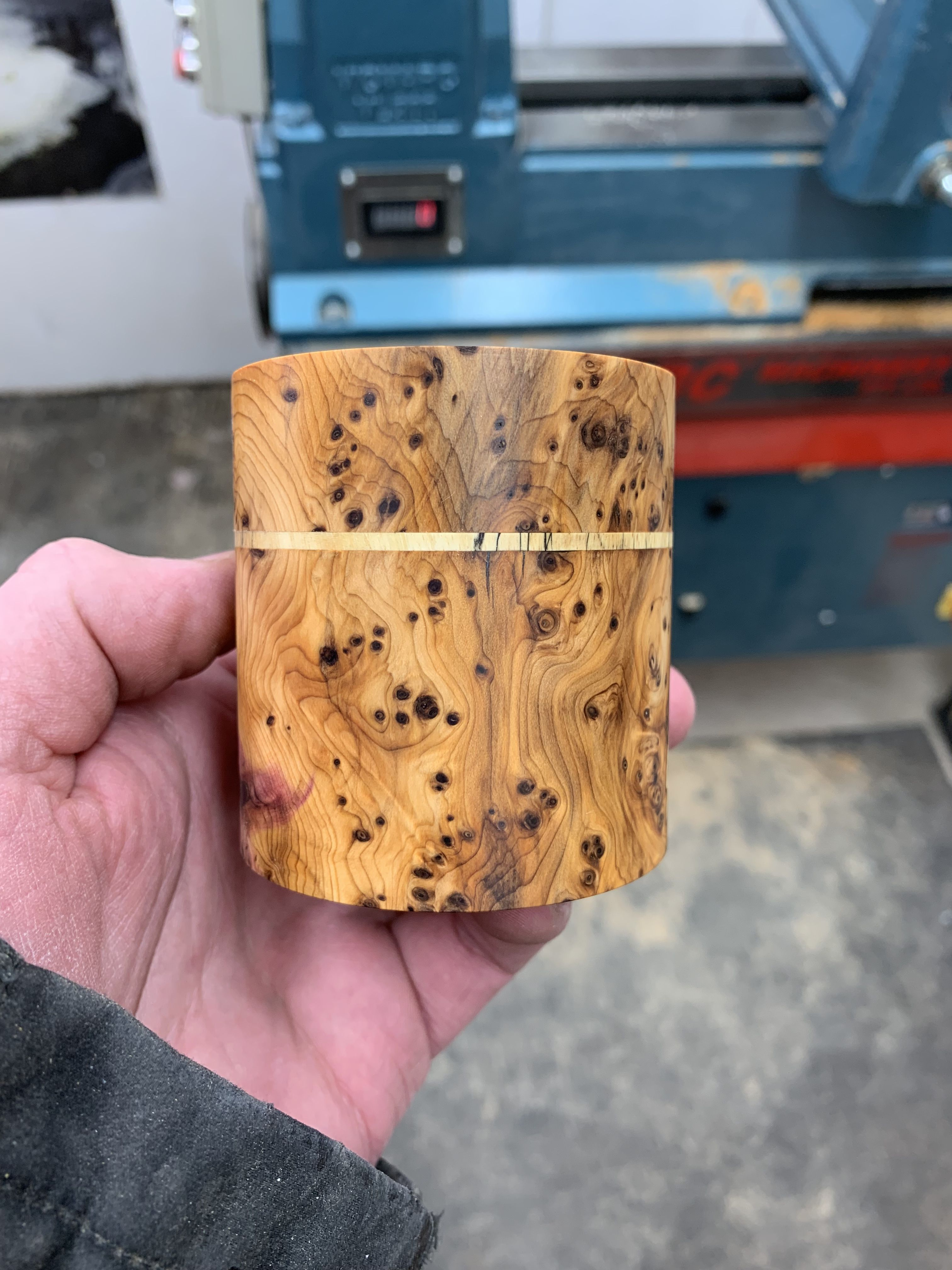 Burr Yew Spalted Tamarind Lidded Box Made By George Watkins Wood Turning Artisan Bowl Wood Turning Projects