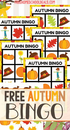 FREE AUTUMN BINGO GAME (Instant Download) Fall games