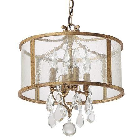 Vintage Modern Crystal Mini Chandelier Gold Pendant Lighting