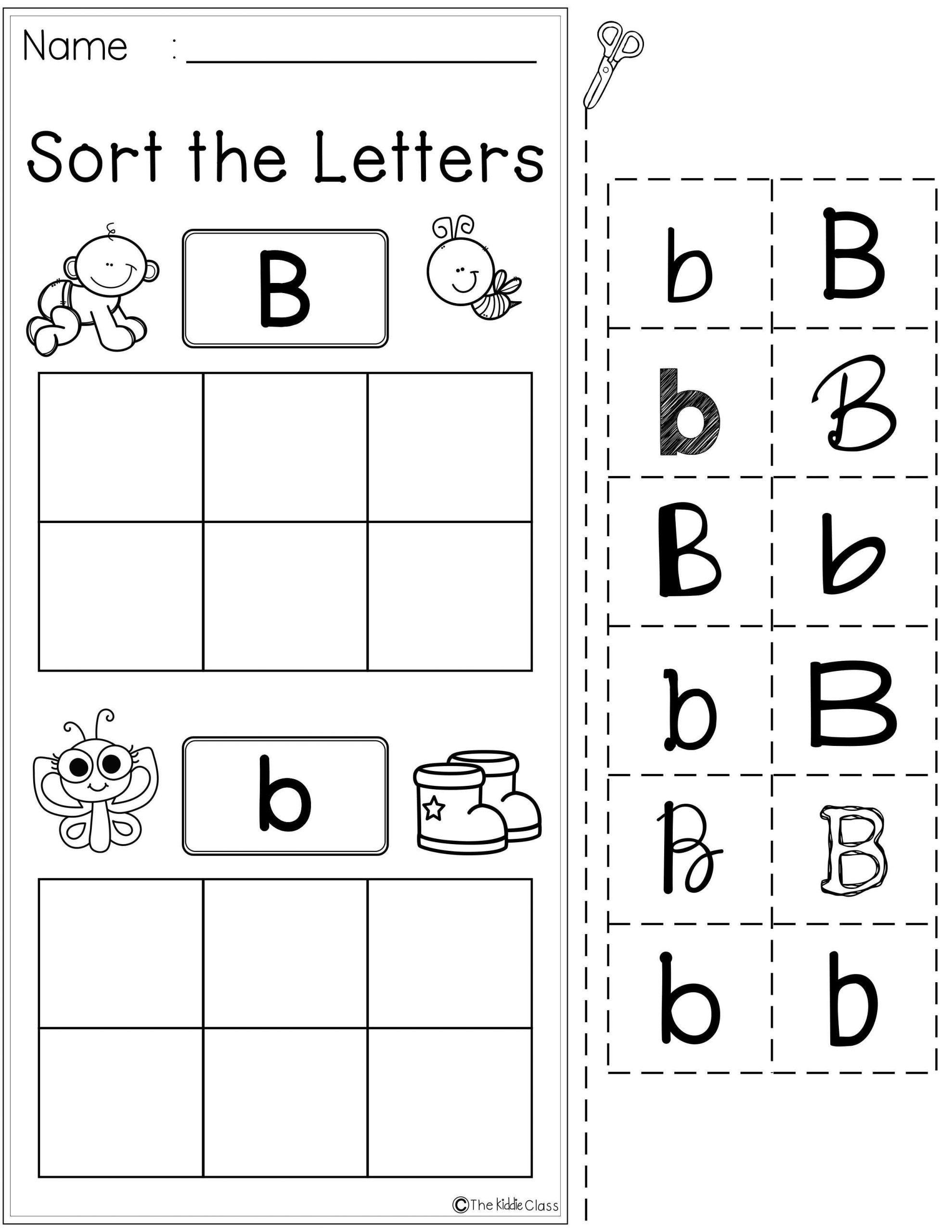 Letter B Worksheets Kindergarten