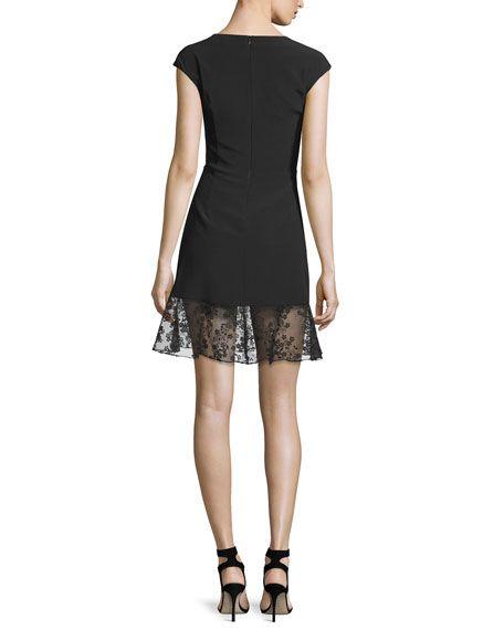 56f0f63109c0 Valeria Sleeveless Embroidered A-Line Dress, Black at CUSP.   Little black  dress   Dresses, Kohls dresses, Scalloped dress