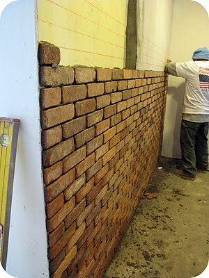 diy interior brick wall i brick wall would be fun like in a