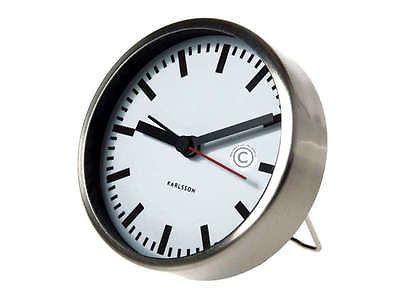 design wecker edelstahl klein reisewecker karlsson neu desk clock pinterest wecker. Black Bedroom Furniture Sets. Home Design Ideas