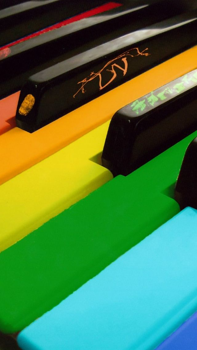 Colorful Piano IPhone 5s Wallpaper Download