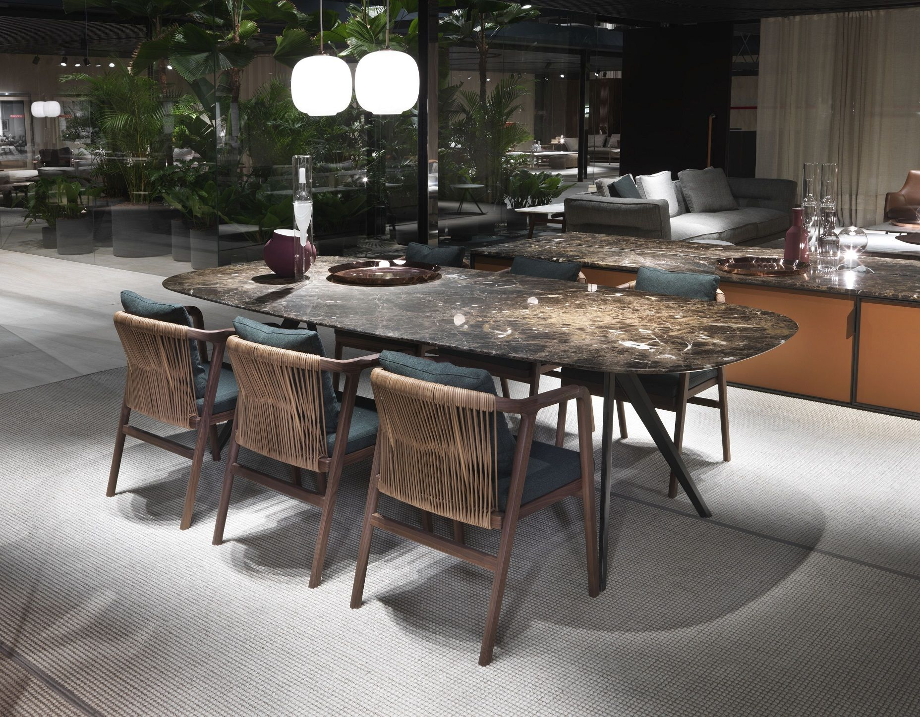#FLEXFORM CRONO Small #armchairs And ZEFIRO New Dining #table, #design  Antonio