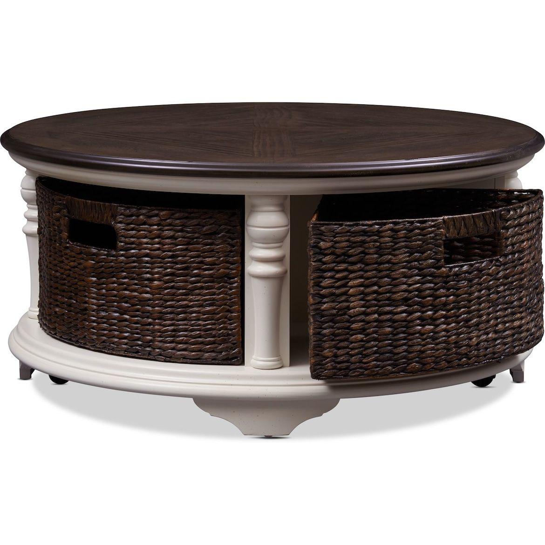 Charleston Round Coffee Table Value City Furniture And Mattresses Value City Furniture Furniture City Furniture [ 1170 x 1170 Pixel ]