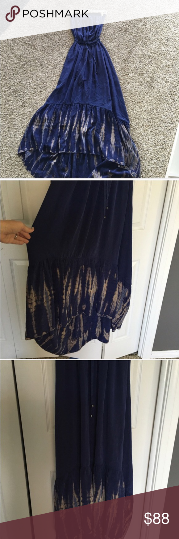 Gypsy 05 Silk halter dress like new Gorgeous dress fits amazing looks like new nothing wrong with this dress it is truly gorgeous Free People Dresses Maxi