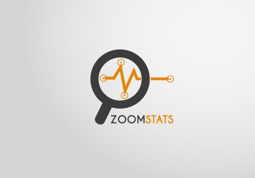 Zoom Stats logo vector template for download. Print ready