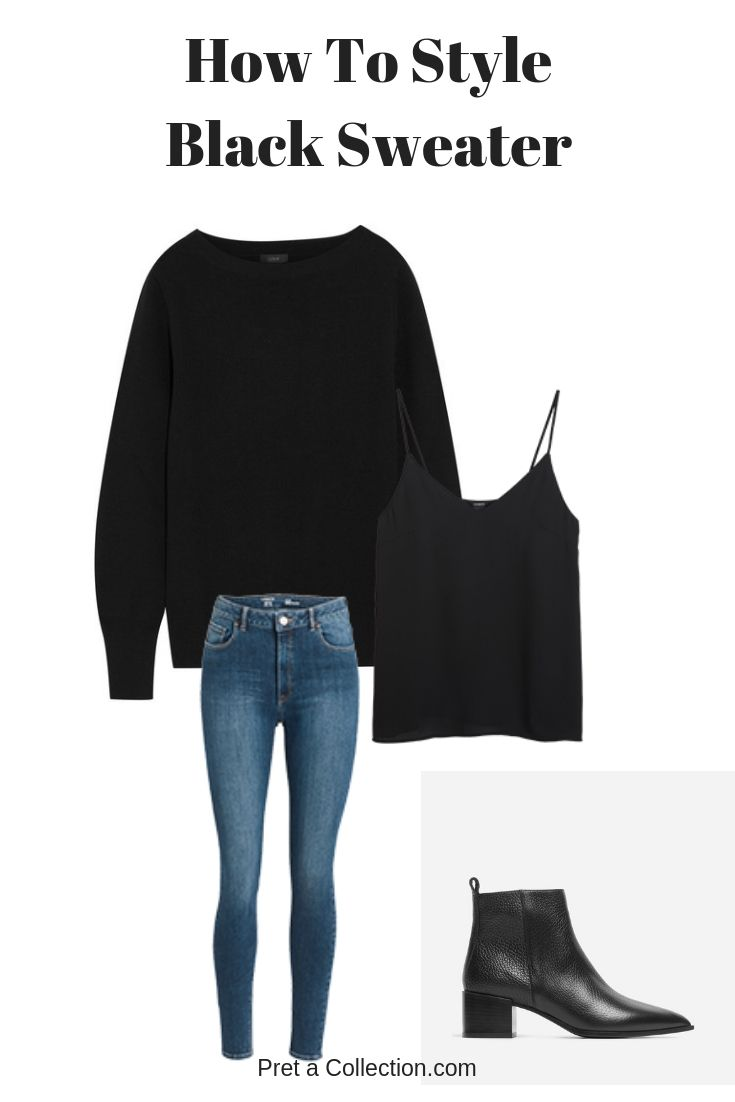 How To Style: Black Sweater