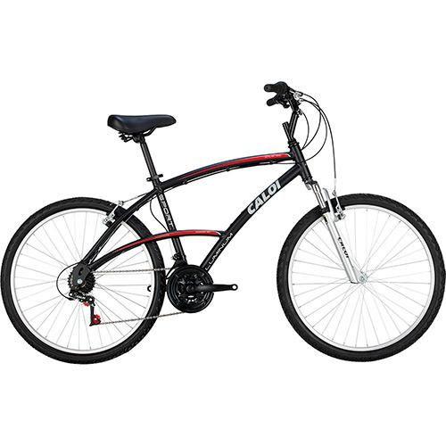 Bicicleta Caloi 21V 100 Sport Aro 26 V-Brake 3x7 - Preto R$ 646,67 - (desconto de 10%) R$ 582,00 8x de R$ 72,75 sem juros ver parcelas R$ 523,80 (10% de desconto) no boleto bancário ou débito.