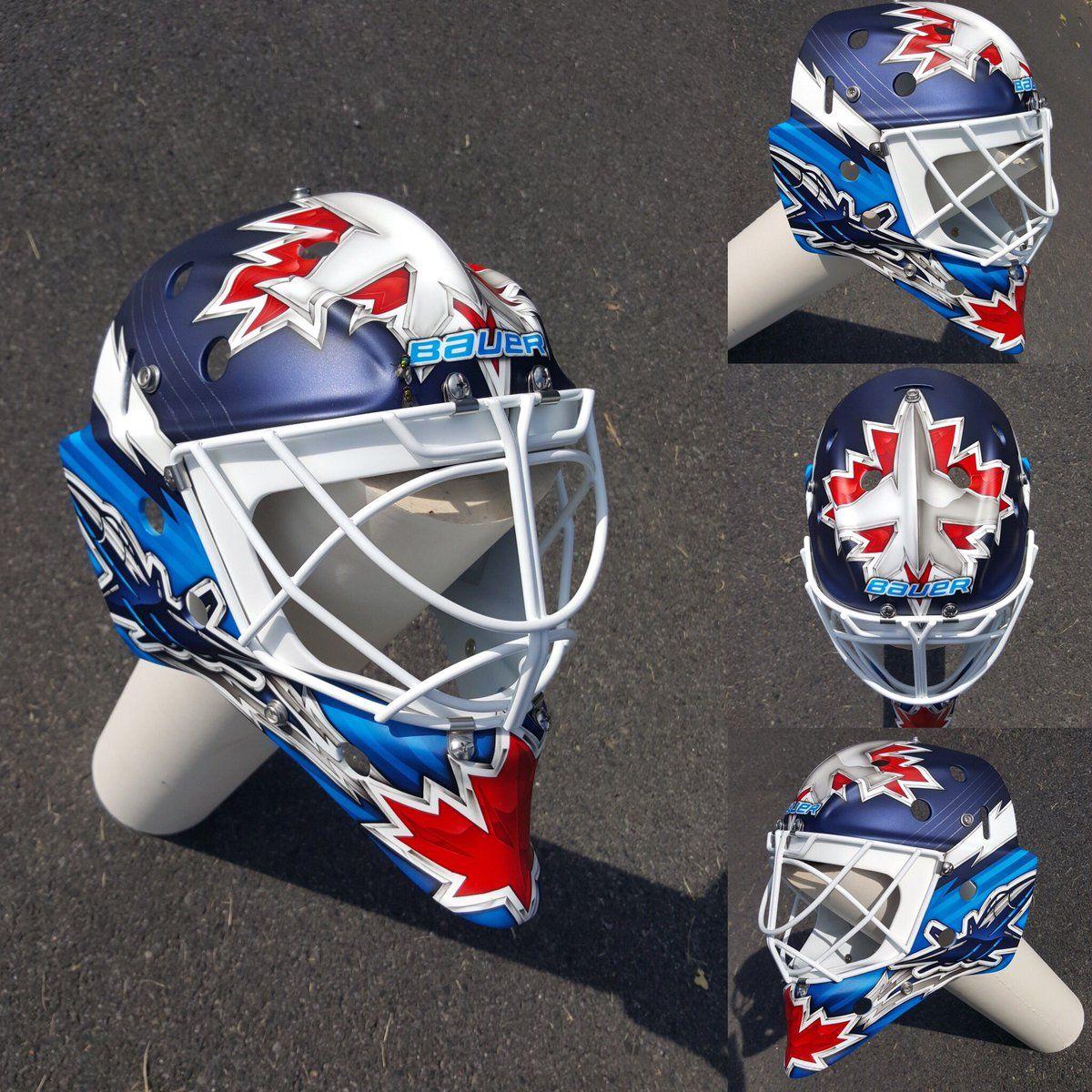 Michael Hutchinson Winnipeg Jets Goalie Mask Hockey Mask Jets Hockey