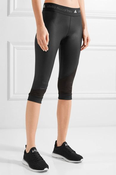 info for 675f8 b134c Adidas by Stella McCartney - Climacool Mesh-trimmed Leggings ...
