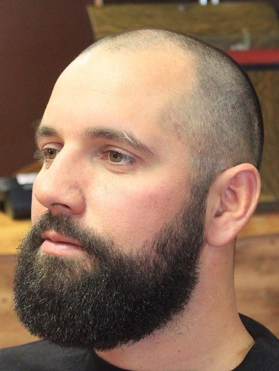 Black Bald Beard Hombres Calvos Con Barba Peinados De Hombre Barba Calva