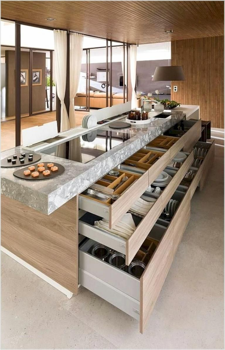 #Beautiful #Budget #housedesigninterior #Ideas #Islands #kitchen #pictures 13 Beautiful Pictures of Kitchen Islands ideas on a Budget #housedesigninterior Interior design ideas for a luxury kitchen decor. On this kitchen, you can see extraordinary furniture design pieces #kitchenislandideas2017