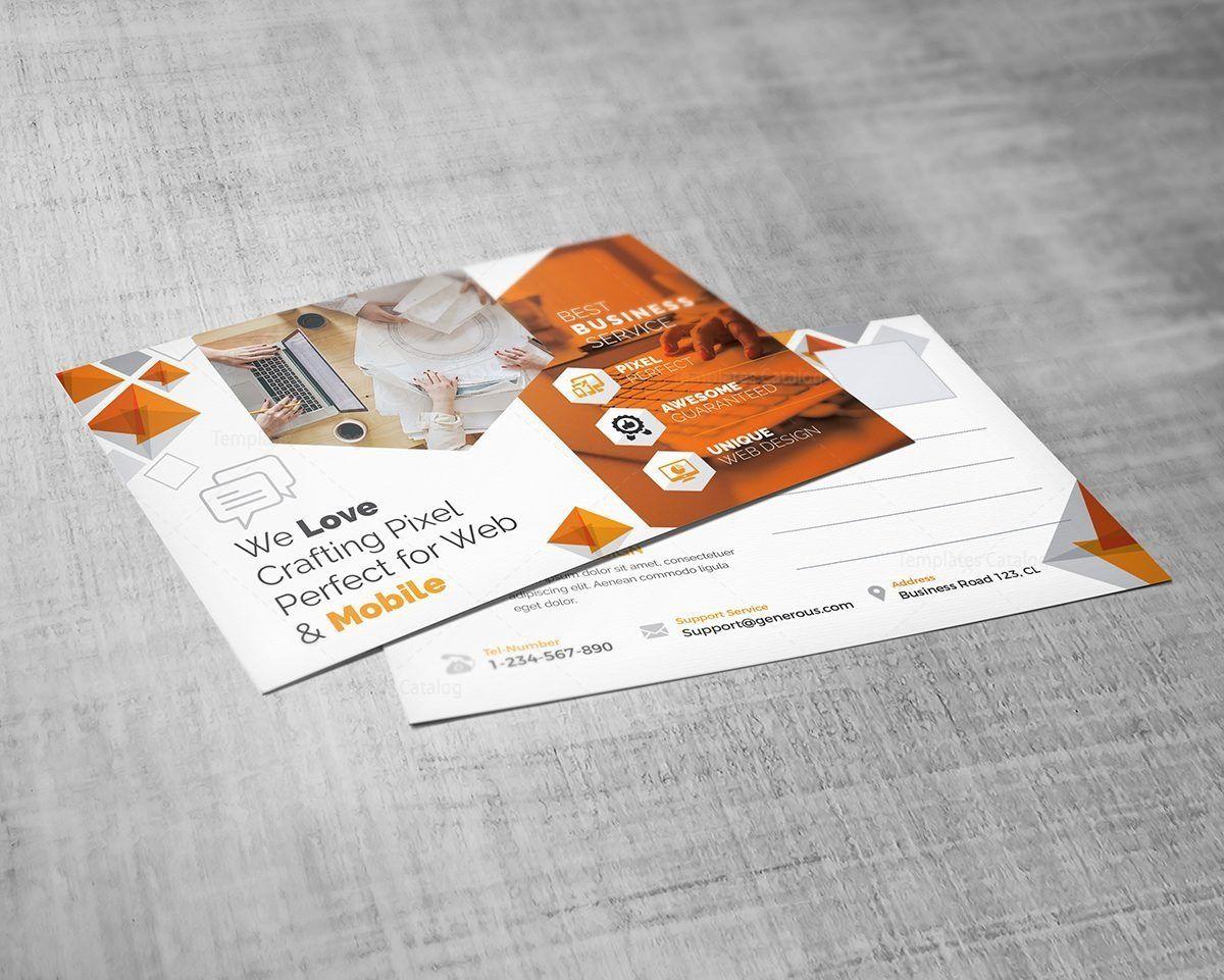 business post card template  postcard template brochure