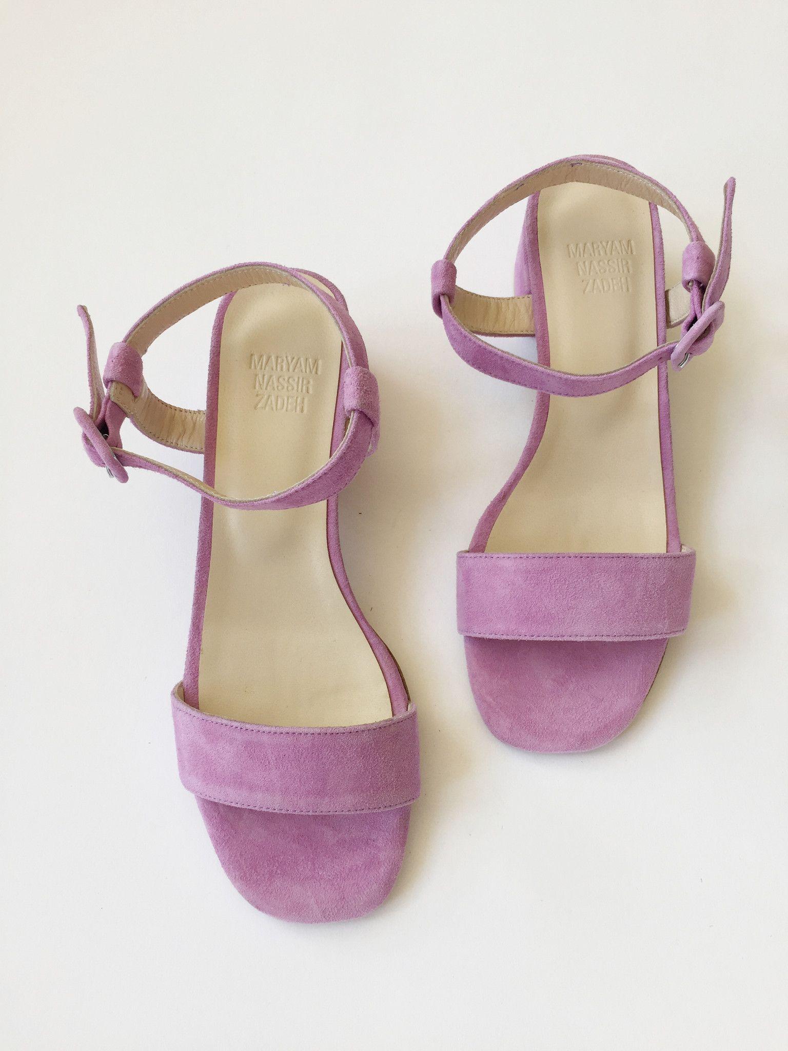 Lavender sandals shoes - Mille Maryam Nassir Zadeh Sophie Sandal Natural