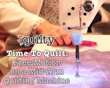 Time To Quilt: Free-Motion on a Mid-Arm Quilting Machine | Quilts ... : mid arm quilting - Adamdwight.com