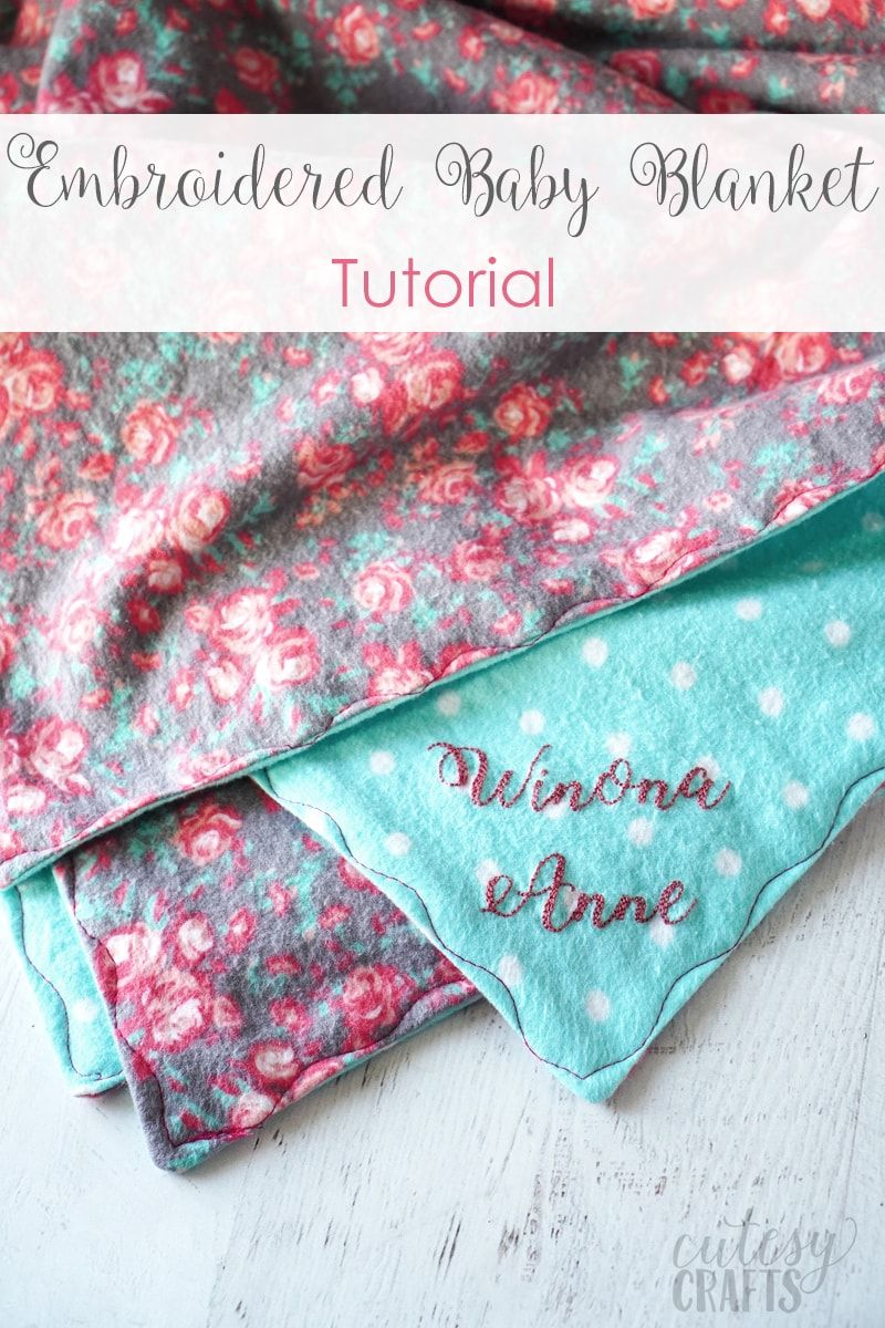 DIY Embroidered Baby Blanket Embroidered baby blankets