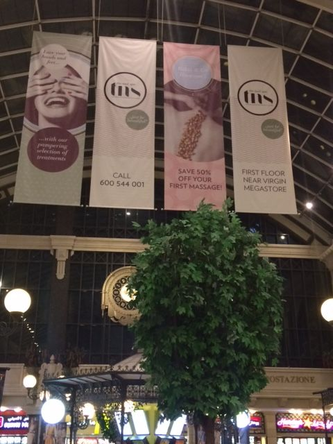 Did you spot our beautiful branding at Mercato food court? | Nail Spa