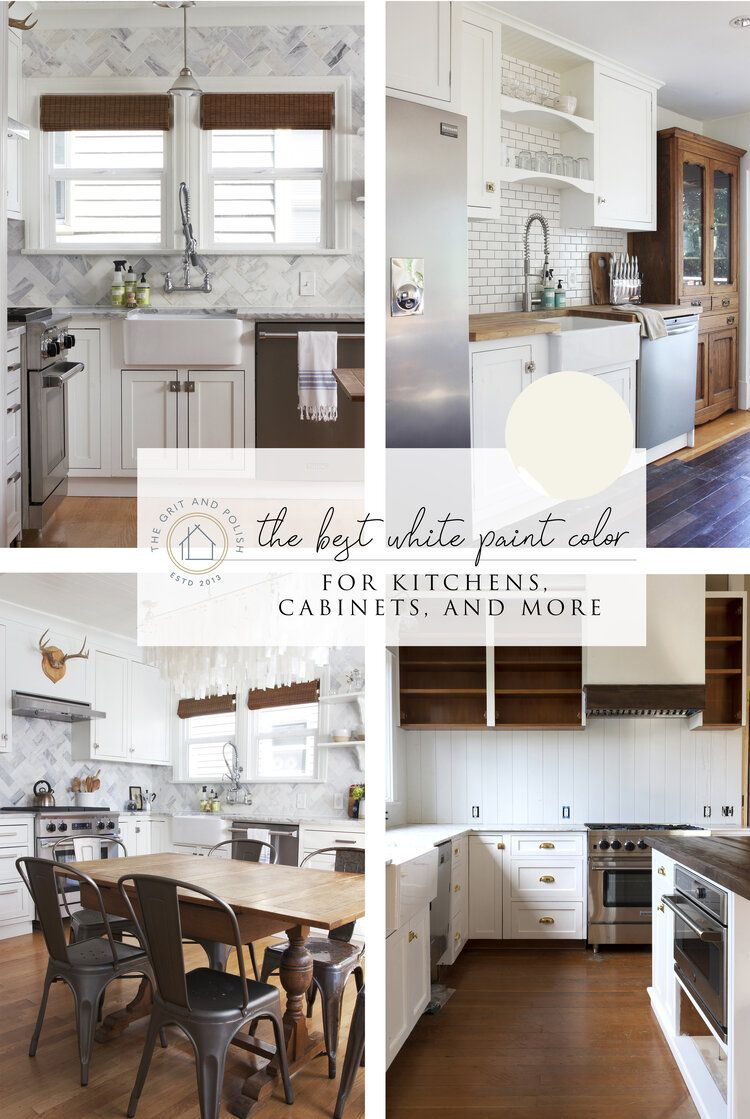 Our Favorite White Paint Color for Kitchens & Cabinets - White paint colors, Kitchen paint colors, White kitchen paint colors, White kitchen paint, Kitchen cabinet colors, Kitchen colors - our favorite white paint color for kitchens, cabinets, and more (lots, LOTS more!)