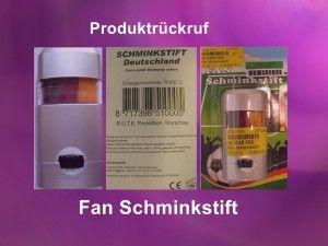 Rückruf: Nächster Deutschland-Schminkstift vom Markt geholt